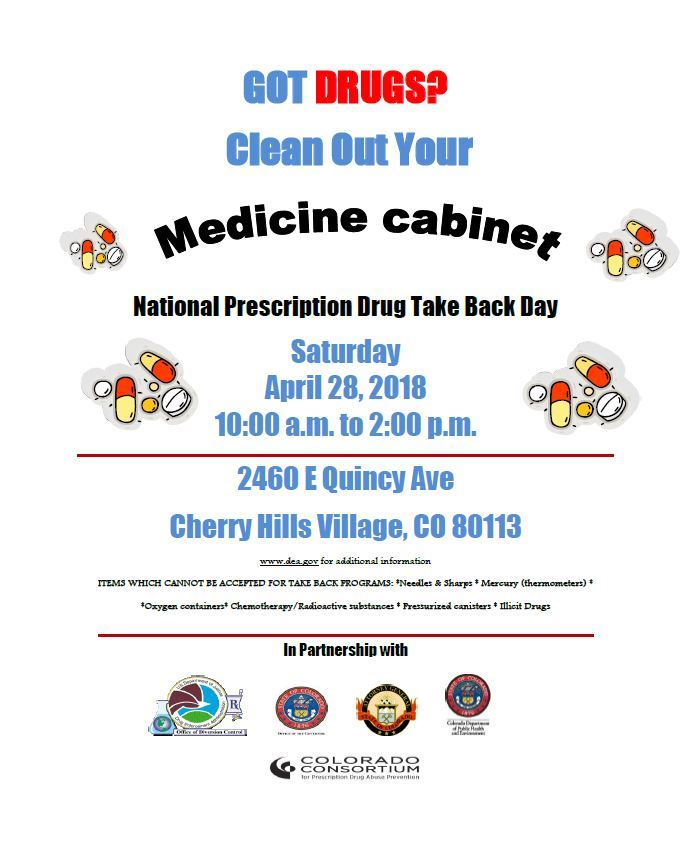 Drug Take Back Spring 2018