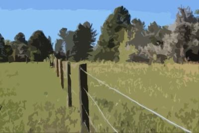 Fence painting effect